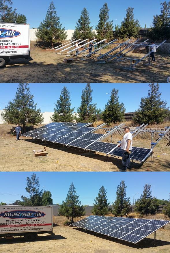 In Progress Ground Based Solar Installation