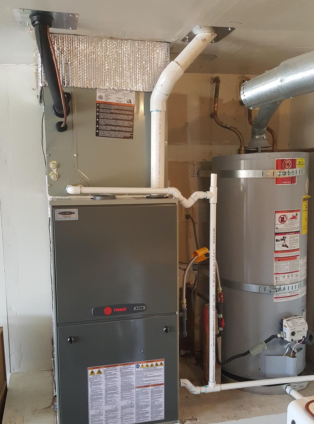 Residential Trane Furnance Installation