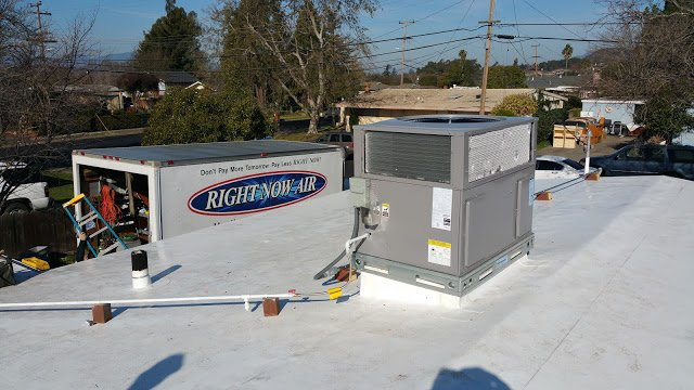 Right Now Air Team completes Rooftop Commercial HVAC Installation