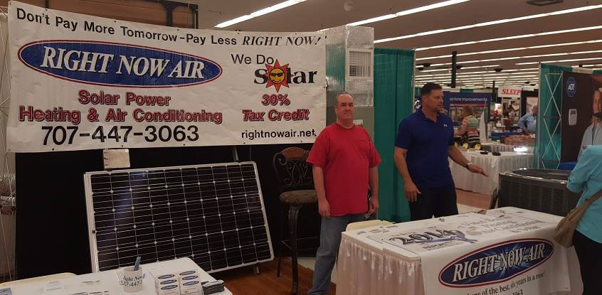 Terry (left) and John Neuman (right) at the Home and Garden Show 2016 in Fairfield, CA.