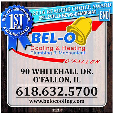 2016 Belleville News-Democrat Reader's Choice Award for the Best Air Conditioning & Heating Repair