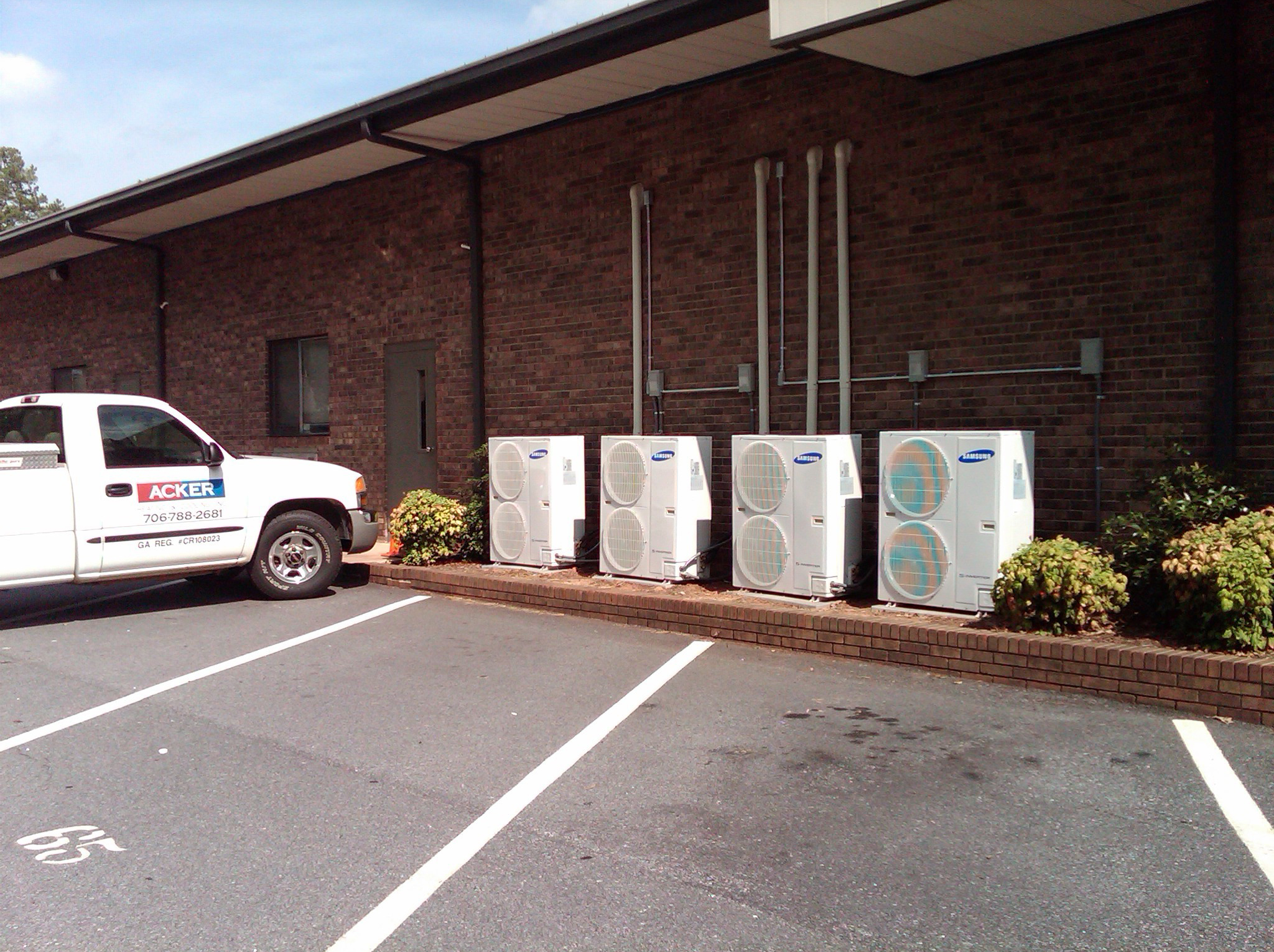 Mini-split systems installation by Acker Heating & Cooling Inc at the Athens Christian School