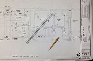 Blueprint of Commercial Project