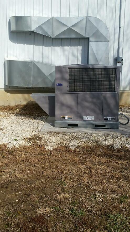 Commercial Packaged HVAC Unit Installation
