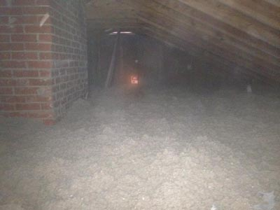 Attic Cellulose Insulation Installation R-38