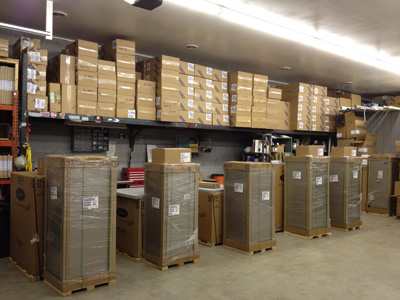 Custom Air Warehouse with Filters and Units in stock