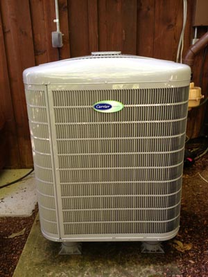 Installation of Carrier 25VNA Infinity heat pump with Greensped Intelligence