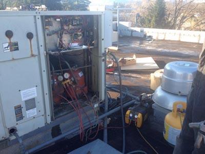 Refrigerant recovery per EPA standards
