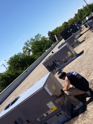 Door and Windows Store Arlington Heights IL Rooftop Unit Replacement After