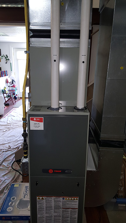 Trane XR95 Gas Furnace Installation