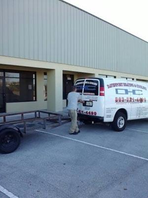 Davenport Heating and Cooling Van