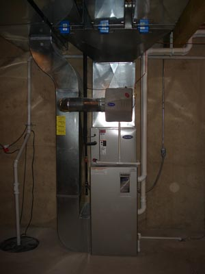 Finished furnace installation