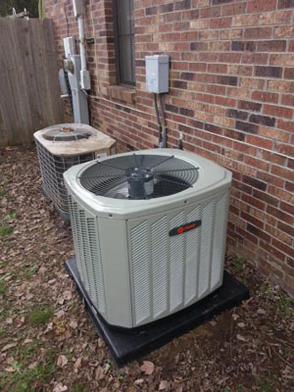 Mathis Collierville Trane condenser replacement of 15 year old York