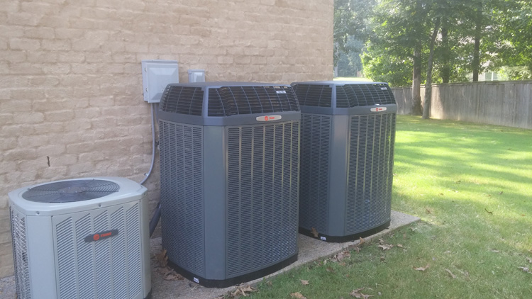 Multiple Unit Trane Air Conditioning Install