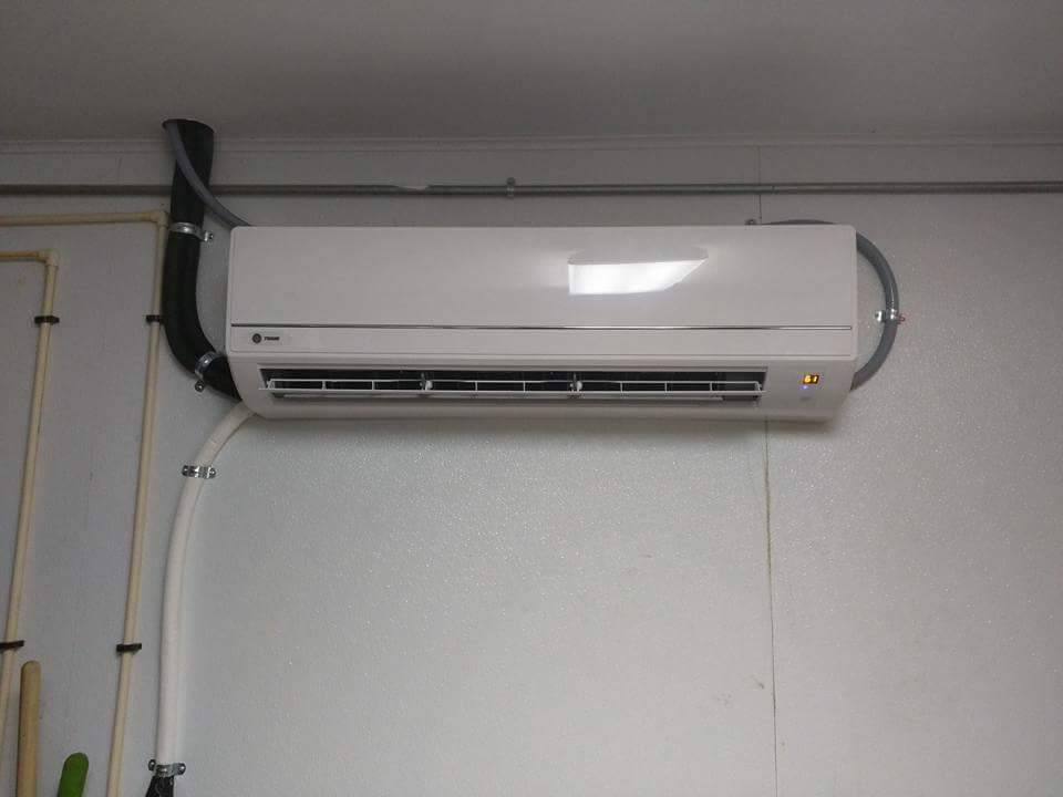Trane Ductless Mini Split Install Indoor Unit