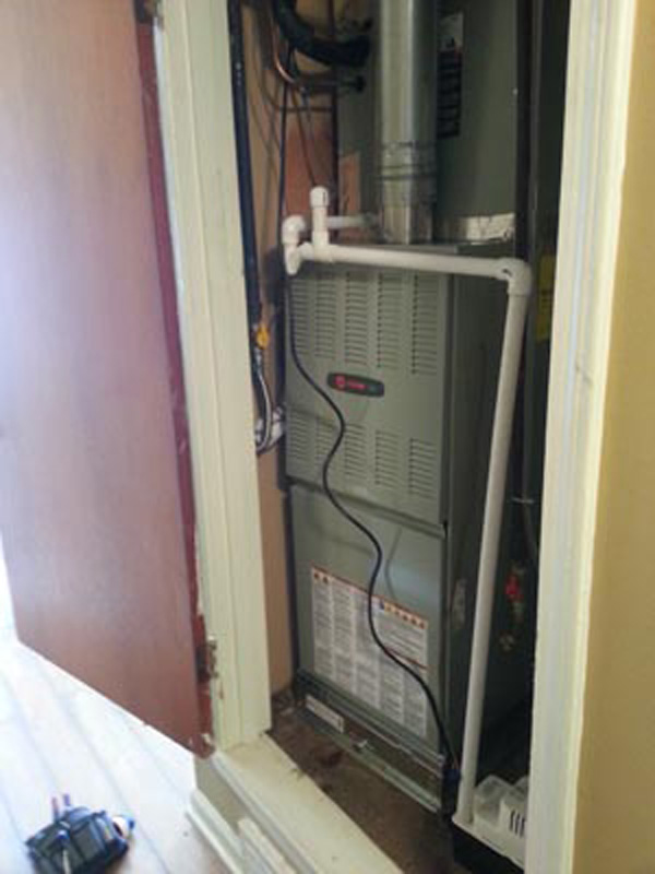 Hattier Collierville new Trane 80% 80K Gas Furnace Replacement