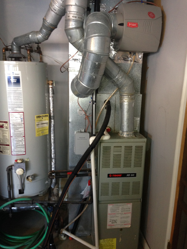 Bryant Furnace Installation – Before