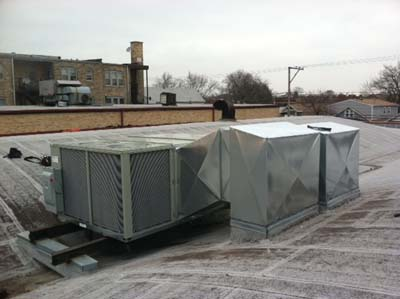 Commercial Rooftop HVAC Installation - After