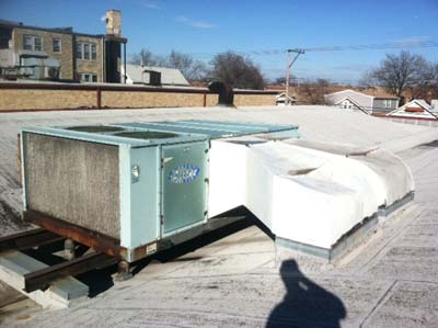 Commercial Rooftop HVAC Installation - Before