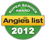 Angie's List Super Service 2012 Award