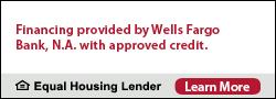 Wells Fargo Financing Available