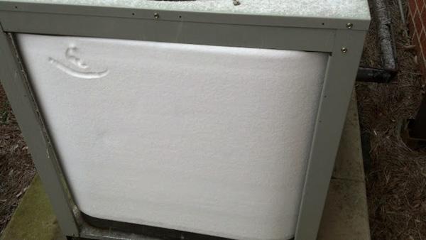 Outside Frozen Condensor