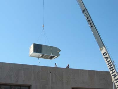<p><strong>First National Bank of Wynne, AR</strong></p> <p>Commercial Rooftop HVAC Installation</p>
