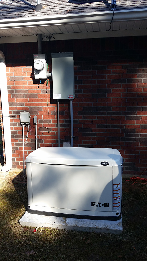 20KW LP Gas Powered Stand By Generator with Automatic Transfer<br>Residential Install, Tenaha