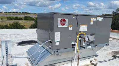 Rheem Commercial Packaged HVAC Unit - Installation
