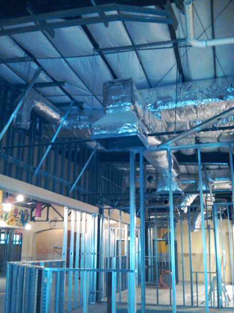 Fabricated Sheet Metal Ductwork Installation