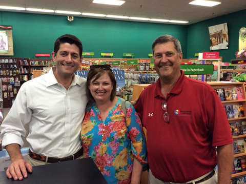 John and Mary with Paul Ryan - John and his wife Mary hanging our with Paul Ryan at his book signing in Wichita Falls