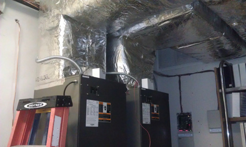 Commercial Office Space Equipment Conversion with Ductwork & Zoning Systems