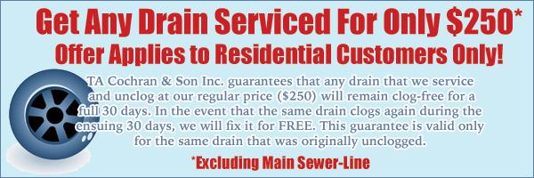 Drain Service Special
