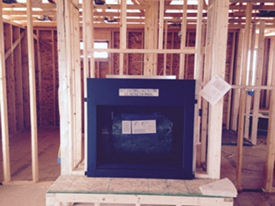 New Construction Fireplace Installation