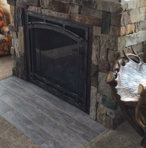 Rustic Fireplace Install