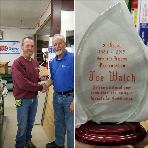 Please join us in congratulating Joe on this milestone. Rich and Joe have worked together all of these 35 years!