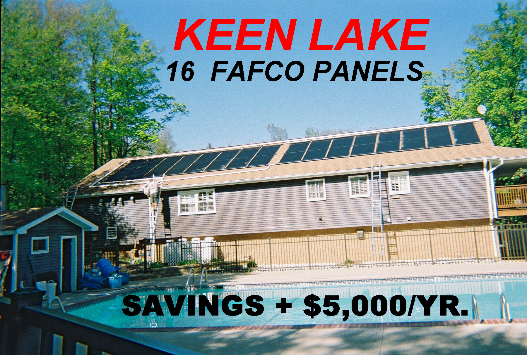 Commercial Solar Pool Heating Installation