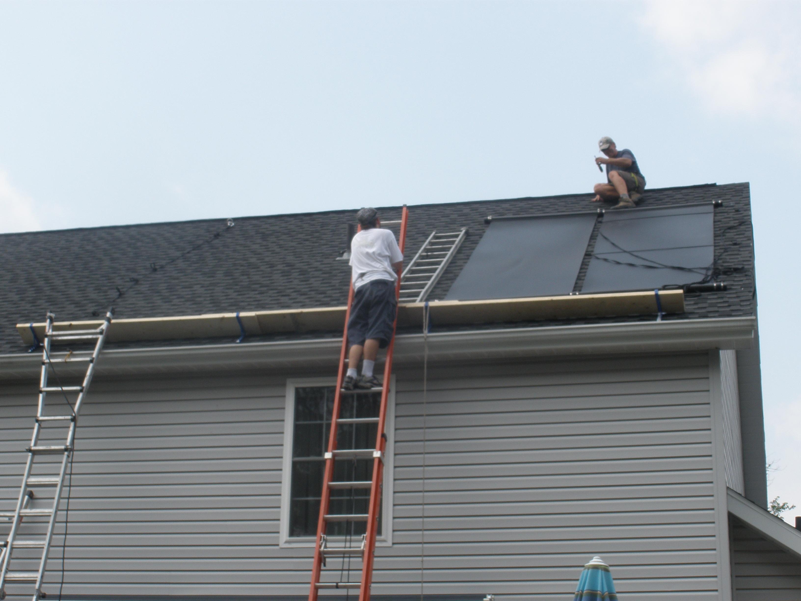 Steep Roof Solar Panel Installation