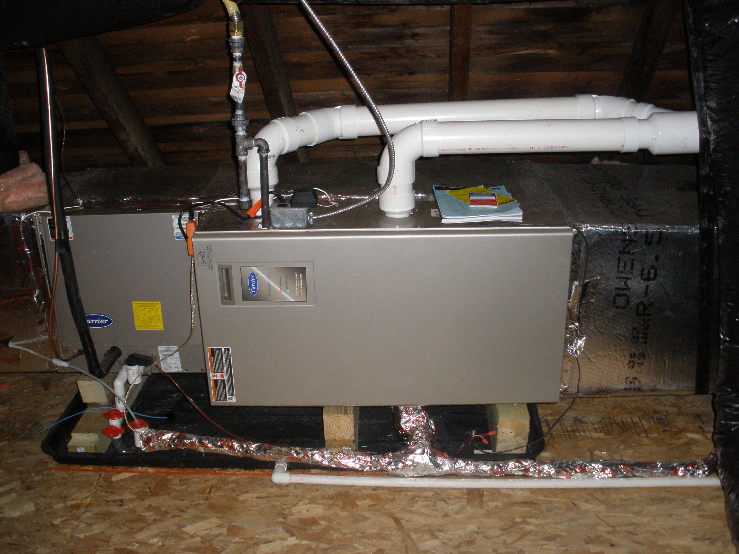 Furnace Installation in Attic