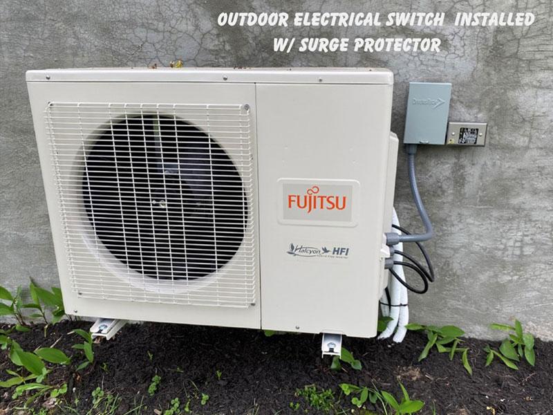 Fujitsu Outdoor Installation With Surge Protector
