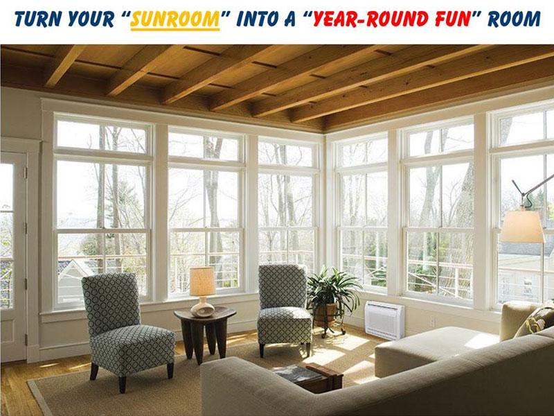 Fujitsu Ductless Installation - Sun Room