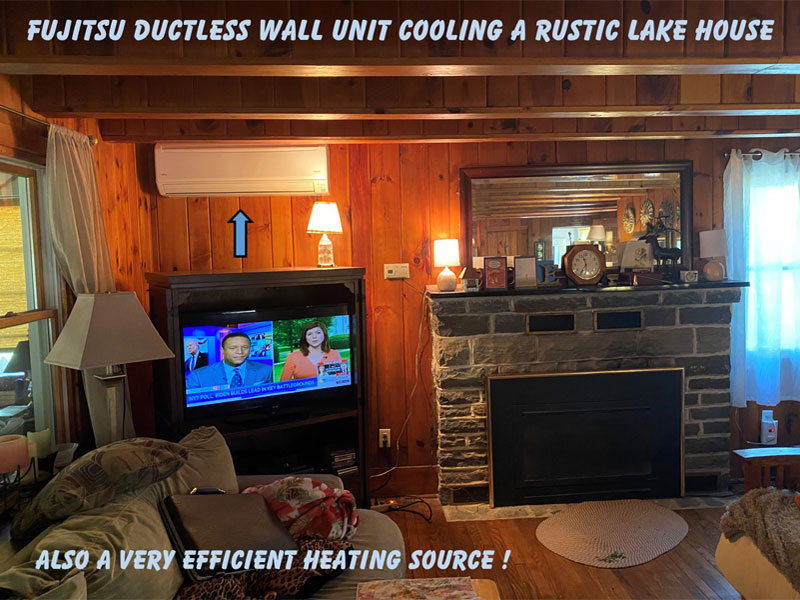 Fujitsu Ductless System - Comfortably Cool at the Lake House!