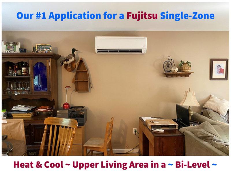 Heat & Cool Upper Living Area in a Bi-Level