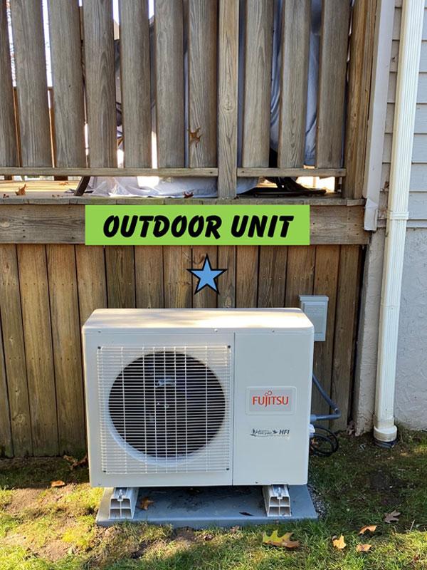 Outdoor Fujitsu Installation