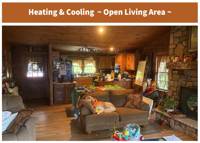 Cabin Heating & Cooling - Open Living Area