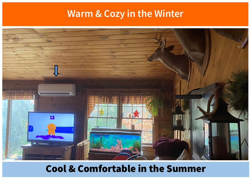 Cabin - Warm in Winter & Cool in Summer