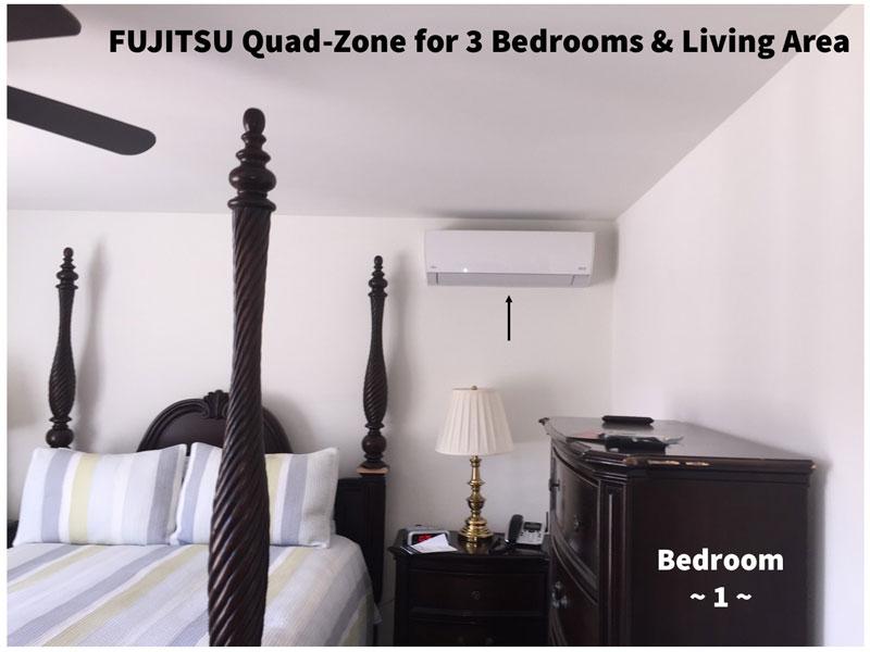 Fujitsu Quad-Zone for 3 Bedrooms & Living Room - 1