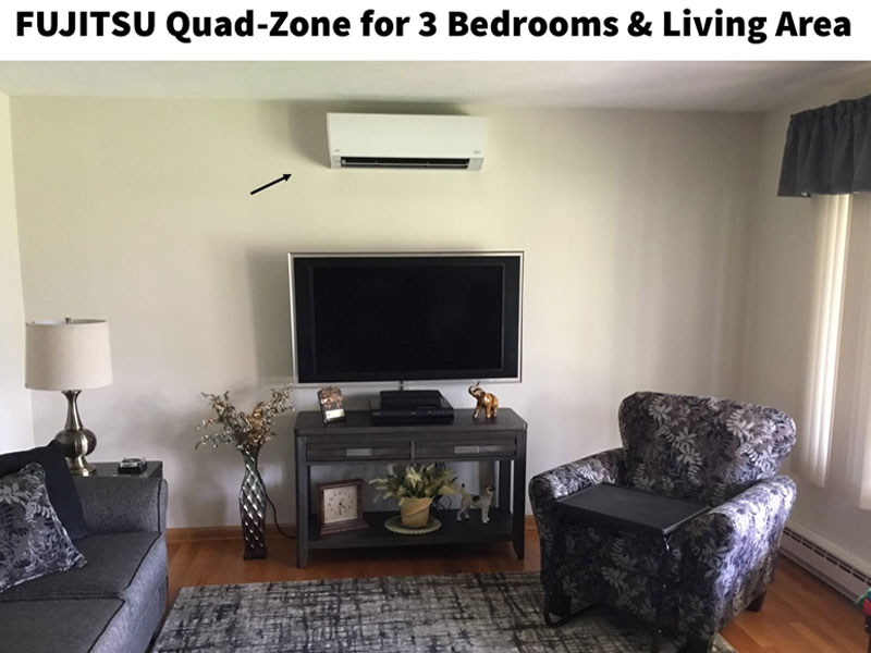 Fujitsu Quad-Zone for 3 Bedrooms & Living Room - 4