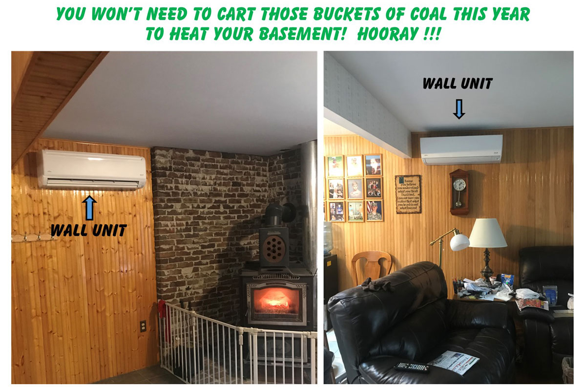 You Don't Need Coal Buckets To Heat Your Basement With Fujitsu Ductless
