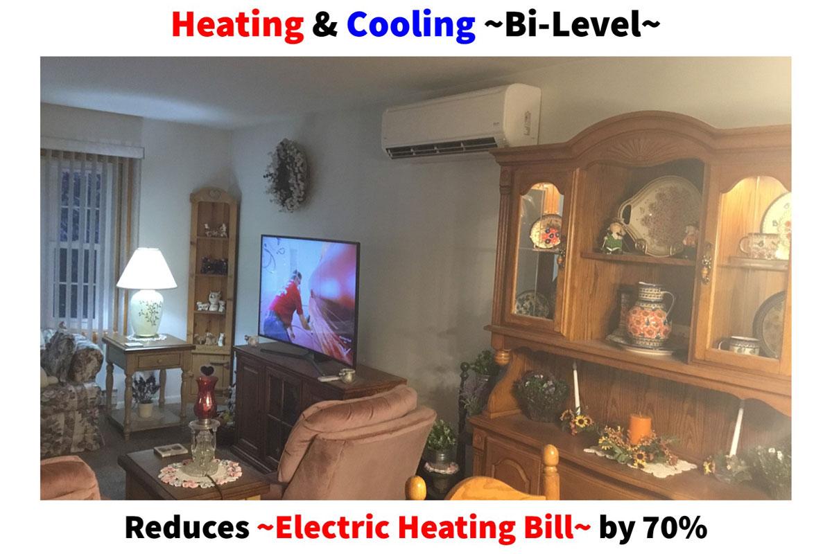 Bi-Level Heating & Cooling Solution Saves Money